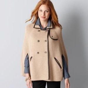 Ann Taylor Loft Tan Sweater Poncho - Size XS/S